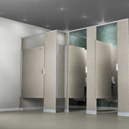 solid plastic partitions